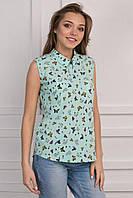 Оригинальная блуза с интересным принтом