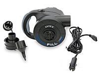 Насос для надувного матраса Intex 66622 аккумуляторный перезаряжаемый от 220 V/12 V, 78W, 600 л/мин