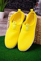 Кроссовки с сетчатым верхом жёлтые  женские  O-13608