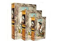 Историческая книга - шкатулка Полководец набор 3шт в1 на магните