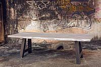 Деревянный стол Hamburg, дуб + ножки А-формы из металла