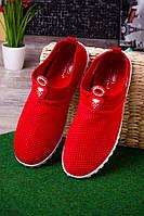 Кроссовки с сетчатым верхом красные  женские  O-13609