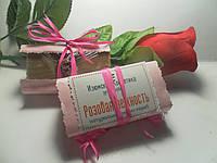 Мыло скраб с розовой глиной Розовая нежность