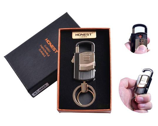 """Спиральная USB зажигалка-брелок """"Honest"""" №4865-3, фонарик, карабин, брелок, спираль накаливания, необычная, фото 2"""
