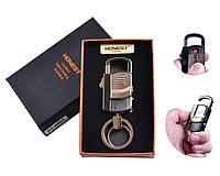 """Спиральная USB зажигалка-брелок """"Honest"""" №4865-3, фонарик, карабин, брелок, спираль накаливания, необычная"""