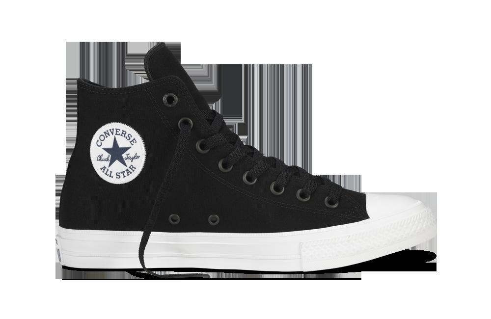 Мужские черно-белые высокие кеды Converse (Конверс) All Star 2 - Интернет  магазин 6d31c37af0e