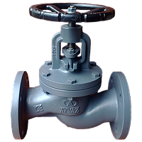 Вентиль стальной фланцевый Ayvaz GV-40 Ду 15