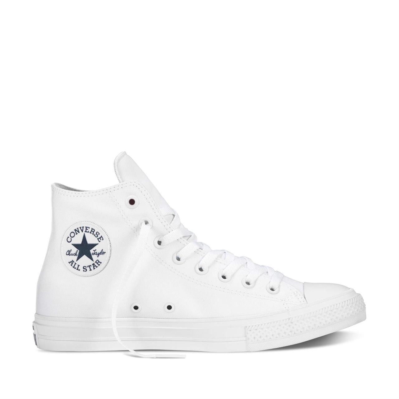 Мужские белые высокие кеды Converse (Конверс) All Star 2 - Интернет магазин  обуви Wikishoes a78bf3f63ac