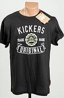 Kickers футболка  черная L ПОГ 55 см  MRSP £ 16.99