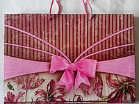 Пакет подарочный бумажный большой горизонтальный 36х25х10 (26-002)