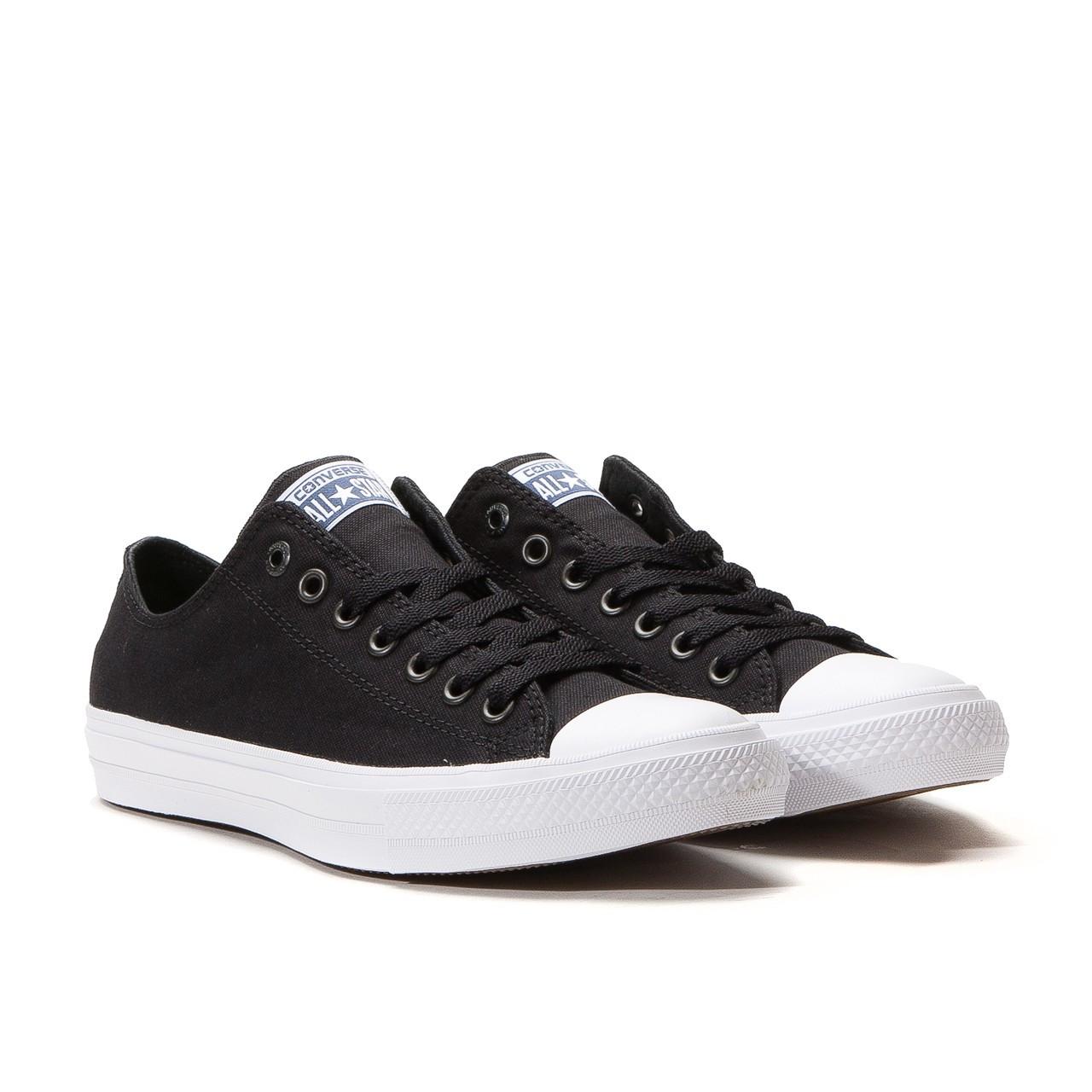 Мужские черно-белые низкие кеды Converse (Конверс) All Star 2 - Интернет  магазин d40c782f94e
