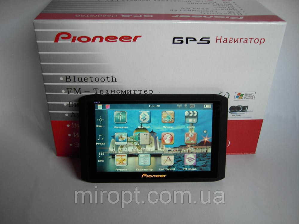 """5"""" GPS навигатор Pioneer HD - 4Gb+AV-in+BT+FMT"""