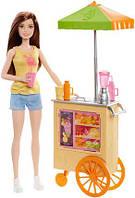 Кукла Барби Профессия булочная Barbie Careers Smoothie Chef Playset with Brunette Doll