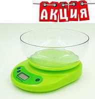 Кухонные весы до 5 кг + Батарейки. АКЦИЯ