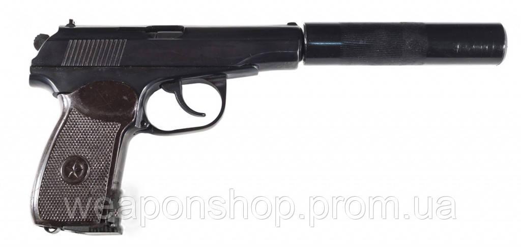Пистолет МР 654 К с имитатором глушителя (доработанный)