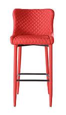 Стілець барний тканинної Chicago (Чикаго) Accord new, колір червоний, фото 3