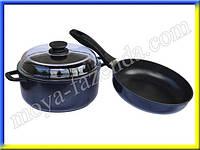 Непригораемая сковорода и кастрюля