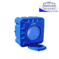 Пластиковая емкость 300 л Куб, горизонтальная, двухслойная Euro Plast RKД 300