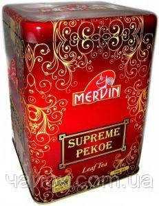 Чай Мервин Mervin Suprim Pekoe 500 гр железная банка