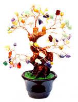 """Дерево счастья """"Микс камней"""" высота 14 см"""