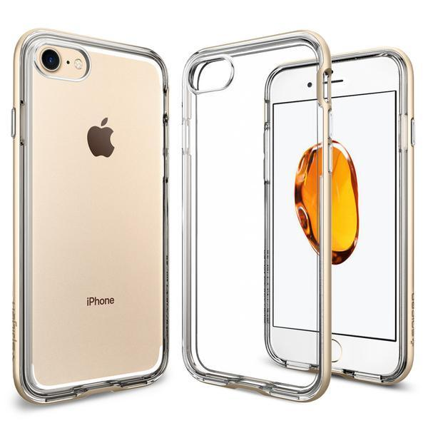 Чехол Spigen для iPhone 7 Neo Hybrid Crystal, Champagne Gold, фото 1