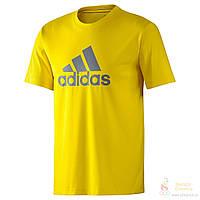 Футболка мужская жёлтая Adidas, адидас