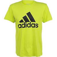 Жёлтая мужская футболка Adidas, адидас