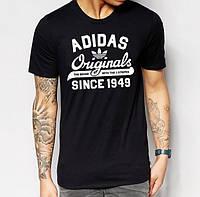 """Чёрная футболка """"Adidas since 1949"""", адидас"""