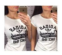 """Футболка женская белая """"Adidas since 1949"""""""