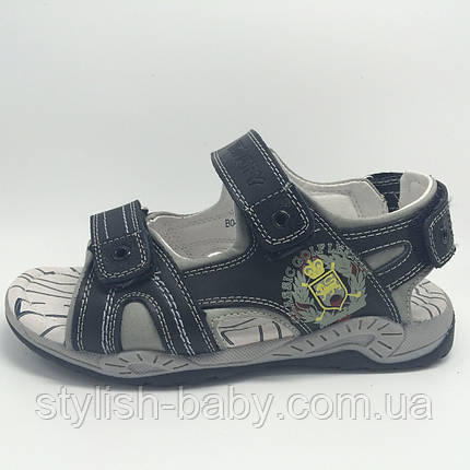 Детская летняя обувь оптом. Детские кожаные босоножки бренда Tom.m (Bi&Ki) для мальчиков (рр. с 33 по 38), фото 2