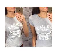 """Женская футболка """"Adidas since 1949"""", серая адидас"""