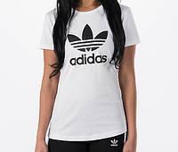 """Футболка женская """"Adidas"""" белая адидас"""
