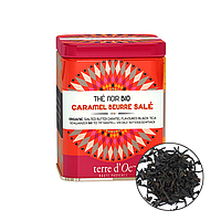 Органический чёрный чай с соленой карамелью, 100г , Terre d'Oc