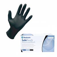 Перчатки   нитрил  чёрные   без пудры    М Medicom  1 пара
