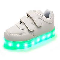 Детские LED Кроссовки Белые