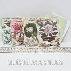 Блокнот Flowers фигурный 9,3х7см