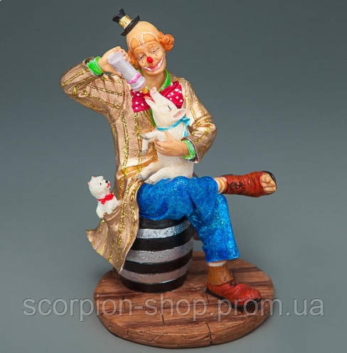 """Статуэтка """"Клоун с поросенком"""" (14 см) Veronese"""