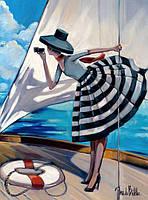 "Картина по номерам без коробки Идейка ""Прогулка на яхте Худ Биддл Триш""  40 х 50 см"