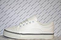 Кеды женские белого цвета на шнуровке