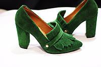 Стильные женские туфли от TroisRois с бахромой - лодочка из натурального замша