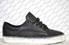 Кеды женские черного цвета на шнуровке, фото 2