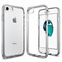 Чехол Spigen для iPhone 7 Neo Hybrid Crystal, Satin Silver, фото 1