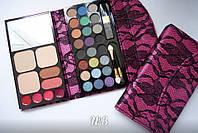 Набор для макияжа MAX MAR № 3 в розовом кошельке тени+пудры+румяна+помады, фото 1
