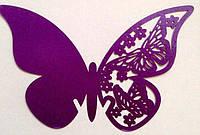 Декор картон Бабочка 2 в бокал 80X75 мм