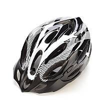 Велошлем черно-белого цвета Green road