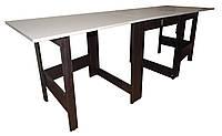 """Раскладной стол книжка трансформер """"Гранд-70"""" ск-04: дуб молочный+дуб венге, фото 1"""