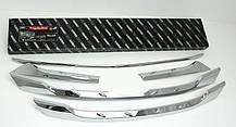 Молдинг решетки радиатора B229 (ХРОМ) - Hyundai Santa Fe DM / ix45 (AUTO CLOVER), фото 3