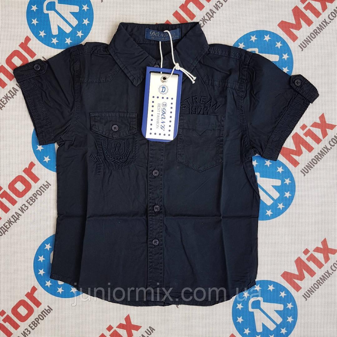 Котоновая детская рубашка с карманами на мальчика DONG