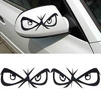 Виниловая наклейка на авто - на зеркало(глаза)