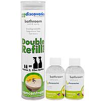 EcoDiscoveries, Двойной пакет пополнения, средство для чистки ванной комнаты, раковина и туалетный столик, по 2 жидк. унц. (60 мл) каждый